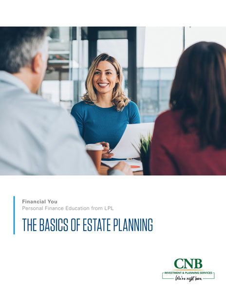 woman smiling at man and woman. Estate Planning handout.