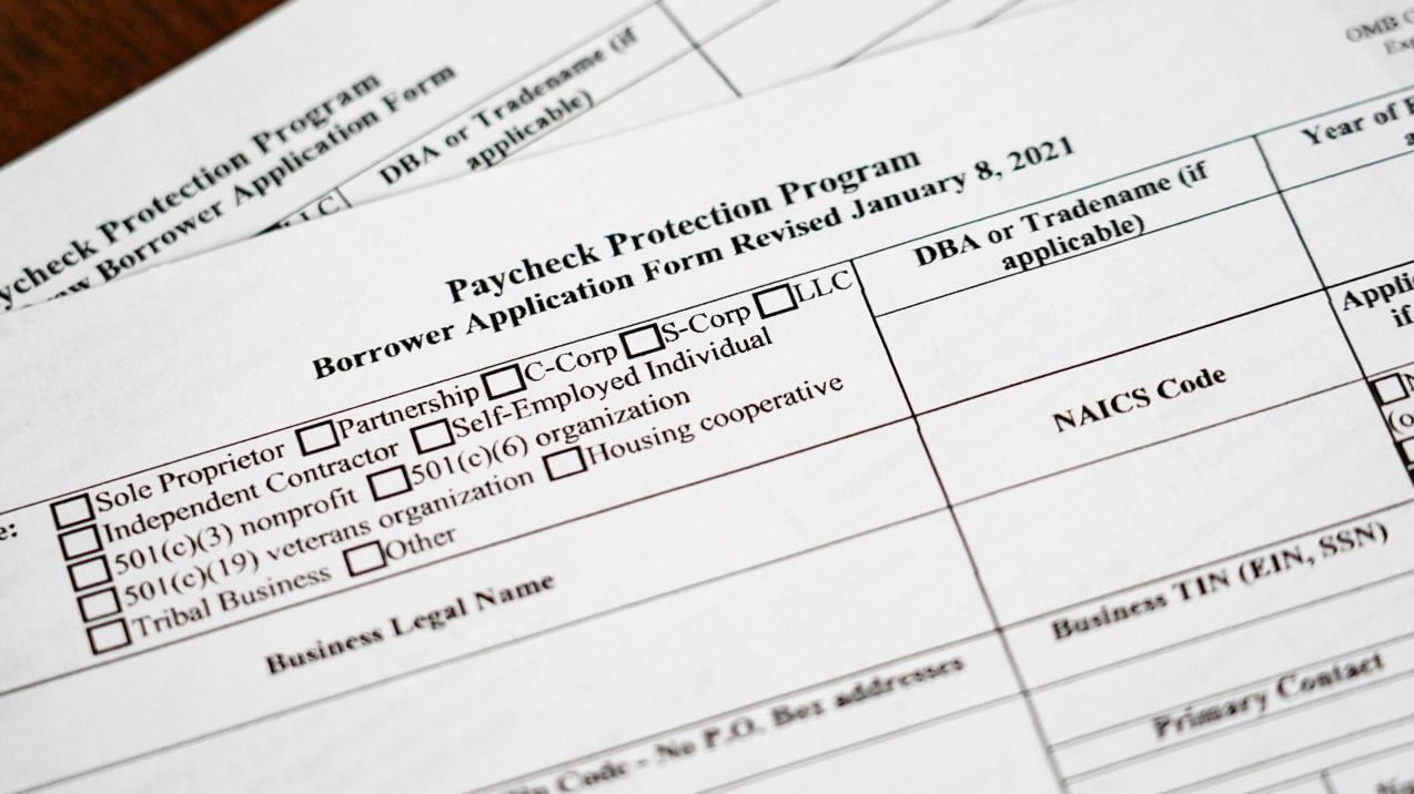 Photo of Paycheck Protection Program application